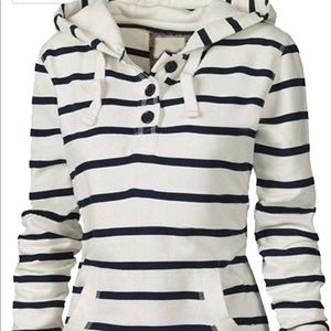 Tops - Casual Hooded Neck Long Sleeve Shirt
